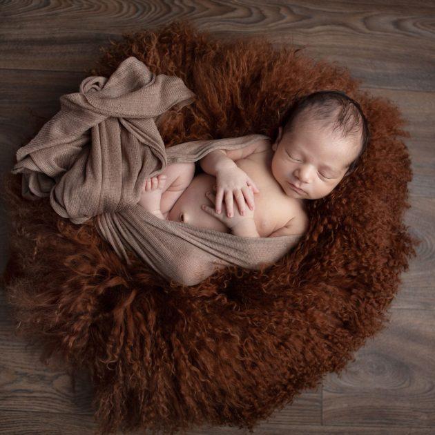 baby on fluffy rug