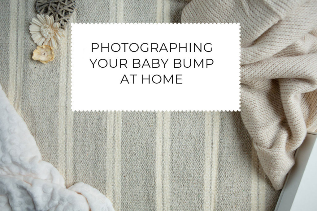 photographing your baby bump at home