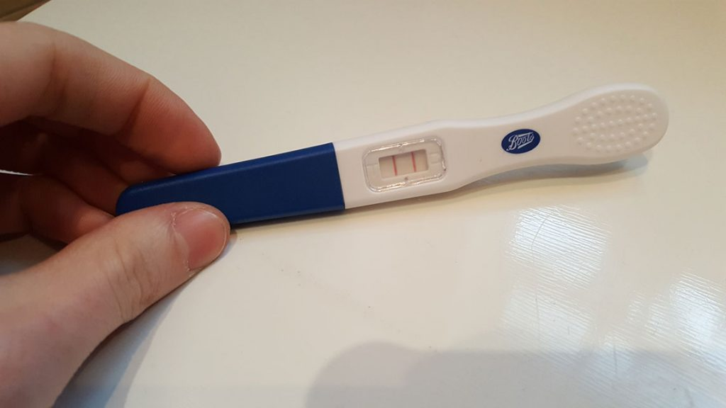 Diary of a Dad-to-be pregnancy test